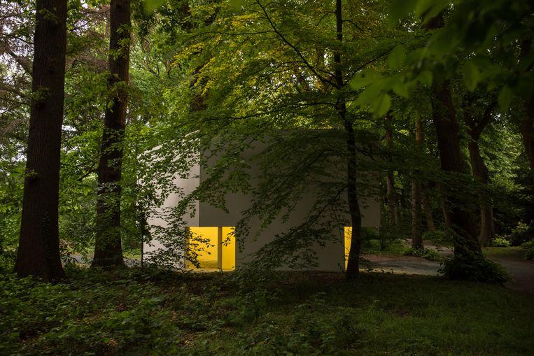 Bruce Nauman, 'Diamond Shaped Room with Yellow Light', 1986-1990/2018 Beeld Tom Cornille