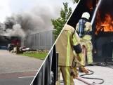 Flinke rookwolken bij grote brand in Vroomshoop