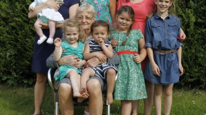 Anne- Marie stamhoofd van vijfvoudig viergeslacht