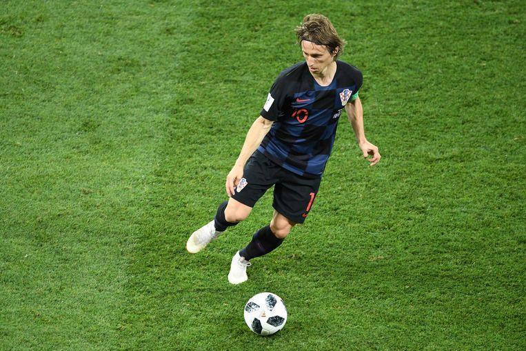 Luka Modric is de draaischijf van het Kroatische elftal. Beeld AFP