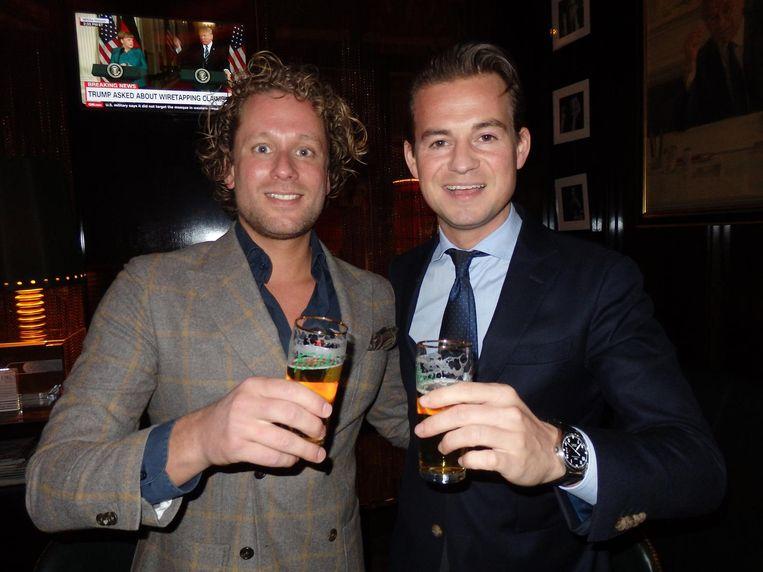 Nummer 21: Jan-Willem Broekhoven (SIRE Life Sciences). Hij sliep er, zat in de bar en ging naar de spa, een echte ambassadeur. Ook met Alexander Bakker (r) van De l'Europe Beeld Schuim