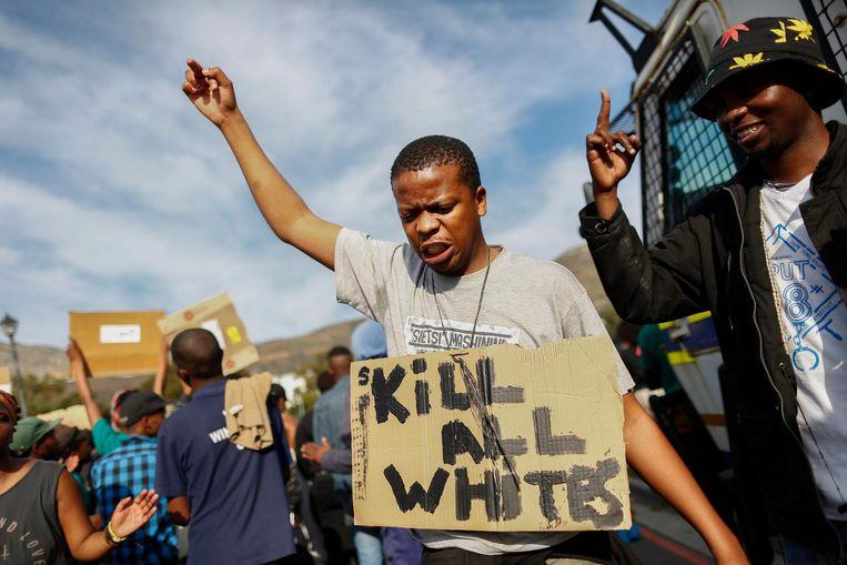 Black lives matter groeide in 2016 uit tot een grote protestbeweging. Hier protesten tegen het doodschieten van zwarte jongeren door de politie. Beeld epa