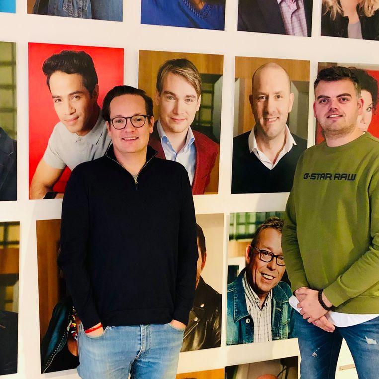 Sander Knura (links) en Jim van der Deijl (Omroep West). Beeld