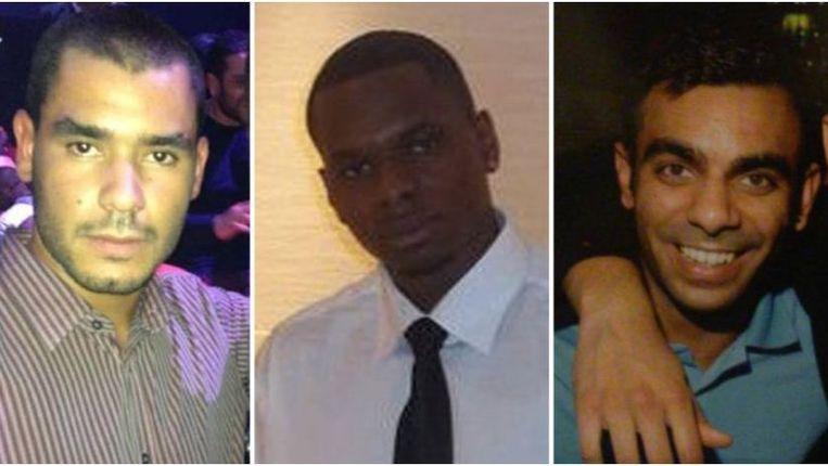 Grant Cameron, Karl Williams en Juneet Jeerh zouden gemarteld zijn in Doebai. Beeld