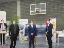 Visite des ministres Borsus et Collignon à Huy dans le cadre du projet RenoWatt