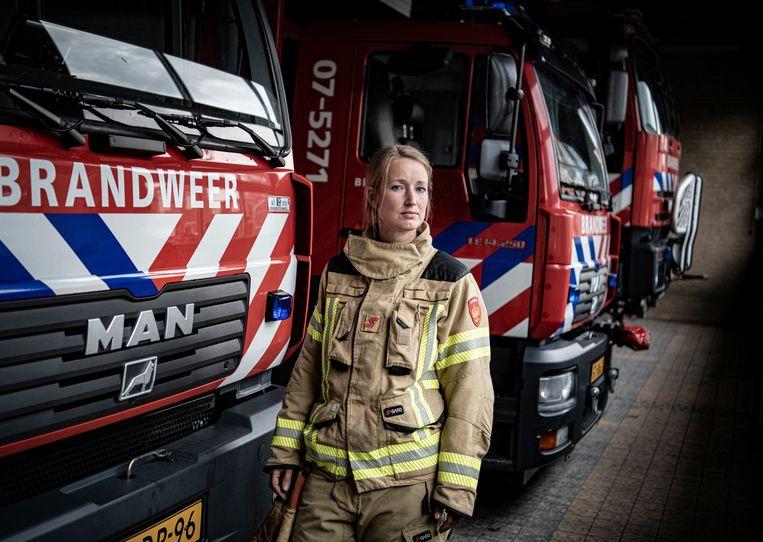 Brandweer-vrijwilliger Karin Witteveen. Beeld Koen Verheijden