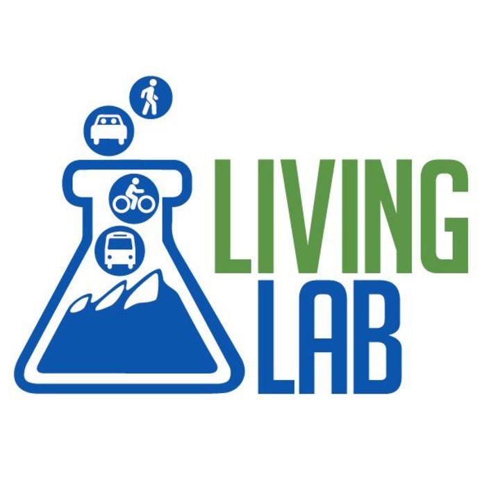 Logo van Living Lab, het plan van Xavier Hacking voor het Victoriapark in Eindhoven.