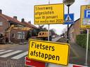 Een deel van de Steenweg in Moerdijk is afgesloten tot half mei 2020.