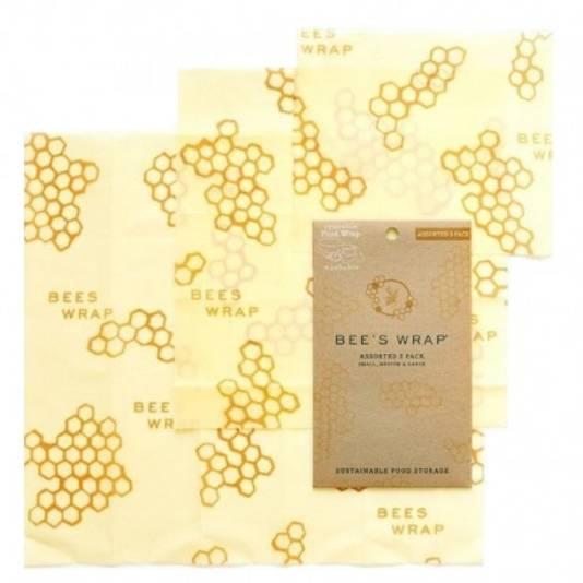 Les emballages alimentaires lavables Bee's wrap pour se passer définitivement de film alimentaire.
