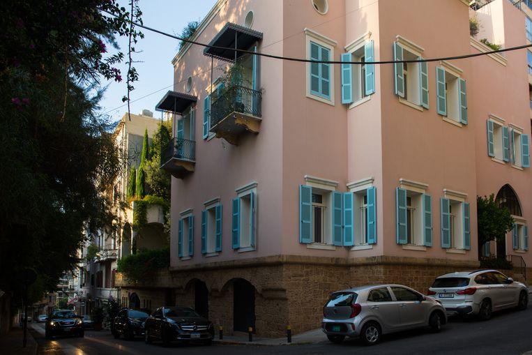 Het huis van Carlos Ghosn in Beiroet is eigendom van Nissan. Hij zegt de woning van zijn vroegere werkgever te willen kopen. Beeld Hans Lucas via AFP