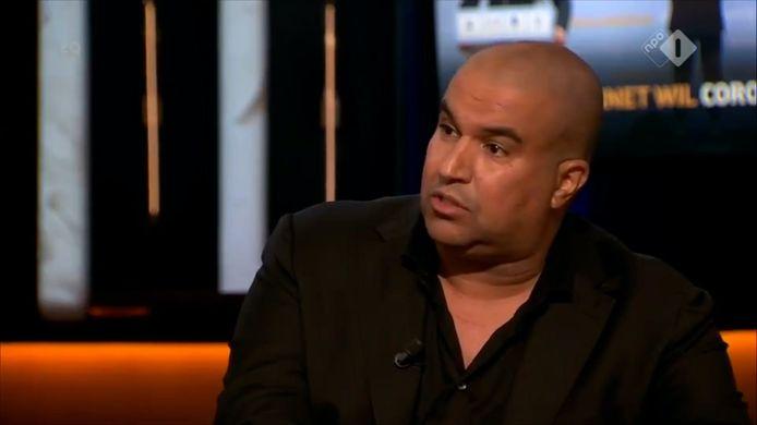 Khalid Oubaha, dinsdagavond bij talkshow Op1.