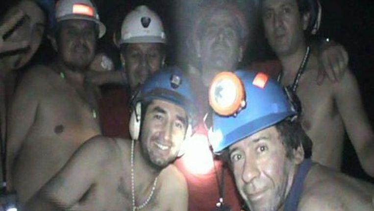 De Chileense mijnwerkers zitten al twee maanden vast onder de grond. ANP Beeld