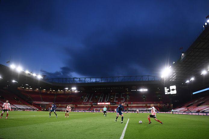 Sheffield in una partita contro l'Arsenal.