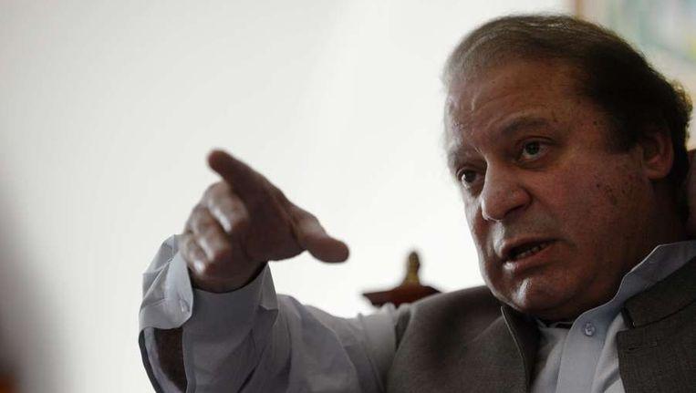 De nieuwe Pakistaanse premier Nawaz Sharif Beeld afp
