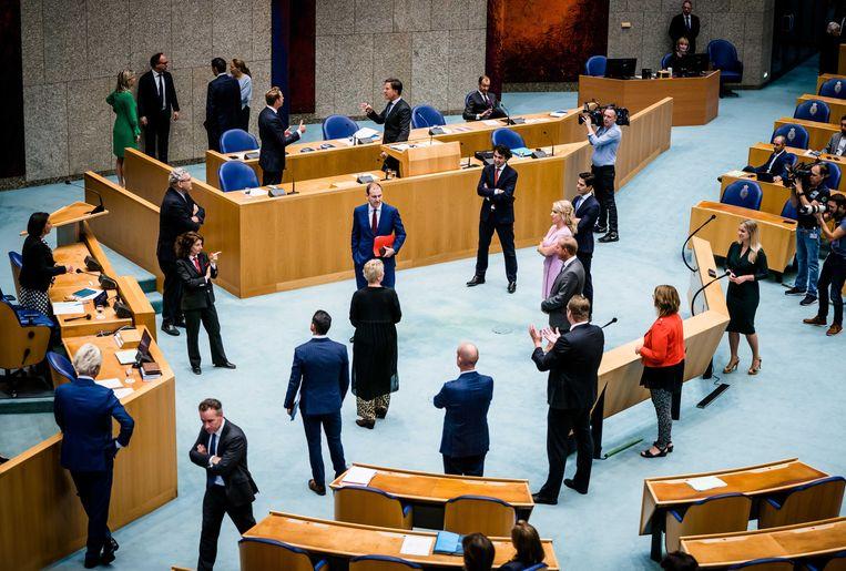 De Tweede Kamer in september 2020, vlak voor de Algemene Politieke Beschouwingen. Beeld ANP