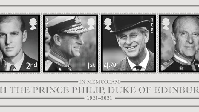 """Prins Philip herdacht met postzegels: """"Zijn overlijden is een belangrijk moment in de geschiedenis"""""""