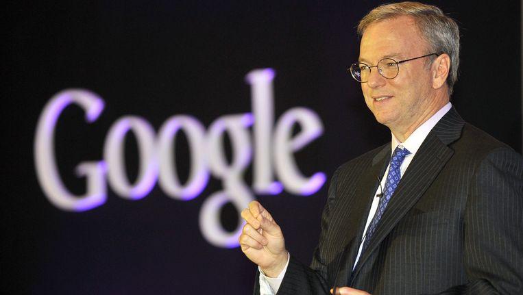 Google-topman Eric Schmidt. Beeld AFP