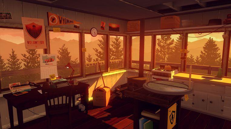Een beeld uit 'Firewatch'. Beeld Campo Santo
