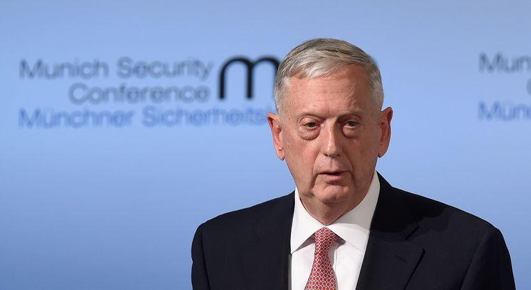 Mattis was twee jaar minister van Defensie Beeld AFP