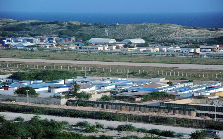 De Amisom-basis in Somalië.