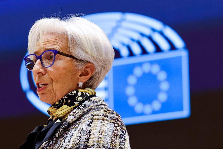 Christine Lagarde, president van de Europese Centrale Bank.  Beeld AFP