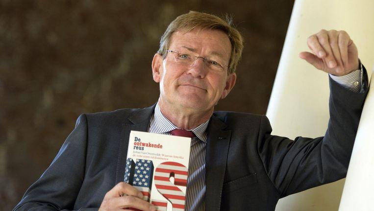 Johan Van Overtveldt op de voorstelling van zijn boek 'De ontwakende reus'. Beeld PHOTO_NEWS