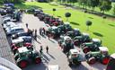 Boeren verzamelden zich vorige week in Schaijk, op weg naar een protestactie bij het provinciehuis in Den Bosch  (Lees verder onder de foto)
