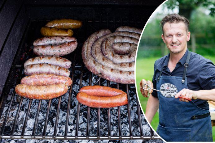 """Slager Hendrik Dierendonck toont hoe je zelf worst draait én barbecuet: """"Goeie worsten maken, is pure ambacht"""""""