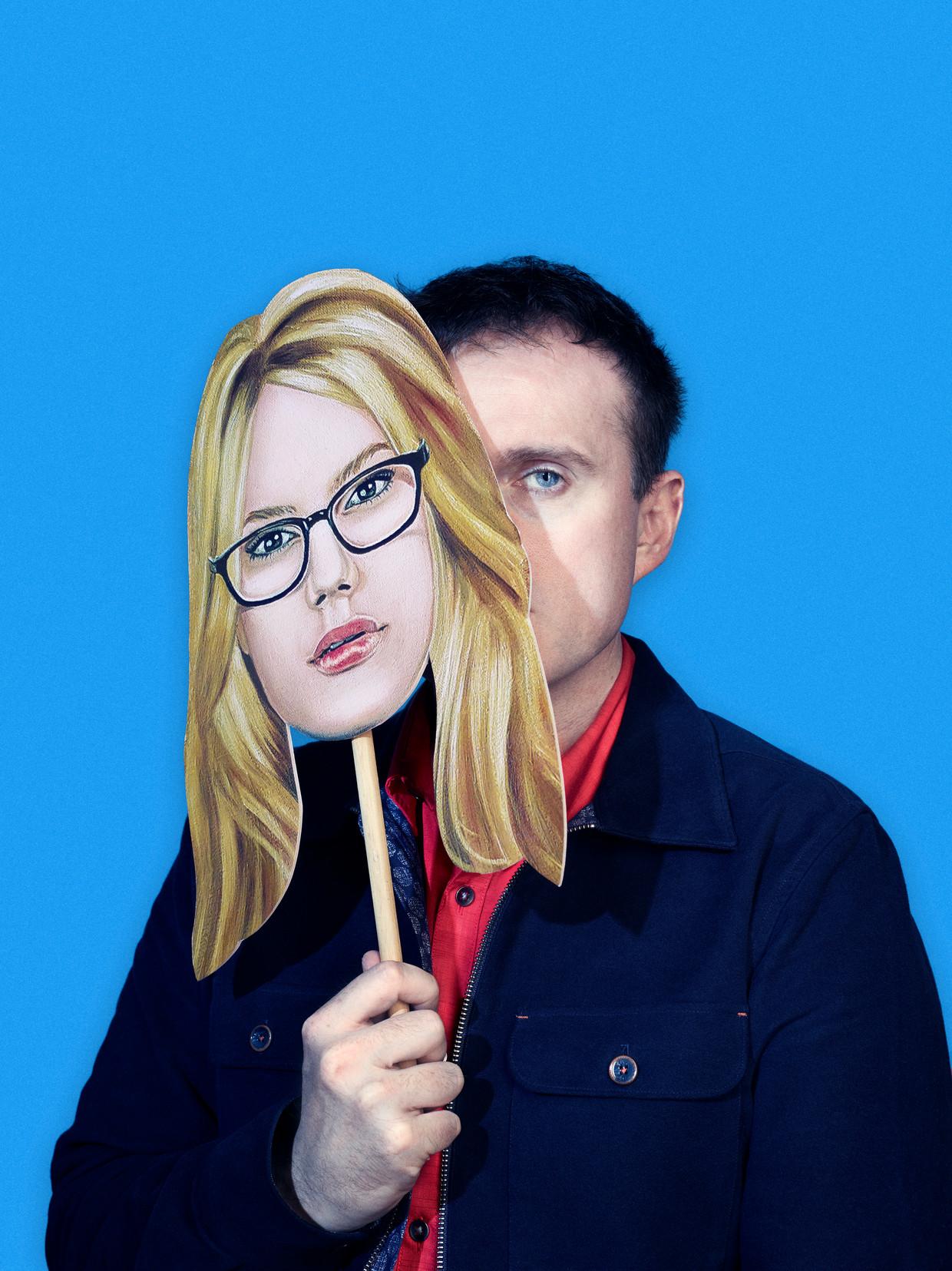 Comedian Andrew Doyle als zijn typetje Titania McGrath. Foto: Andrew Doyle Naamsvermelding verplicht. Beeld Andy Lo Pò