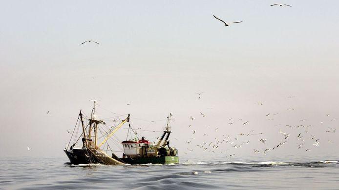 Een vissersboot op de Noordzee. Foto: GPD