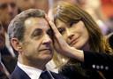 Nicolas Sarkozy en Carla Bruni-Sarkozy.