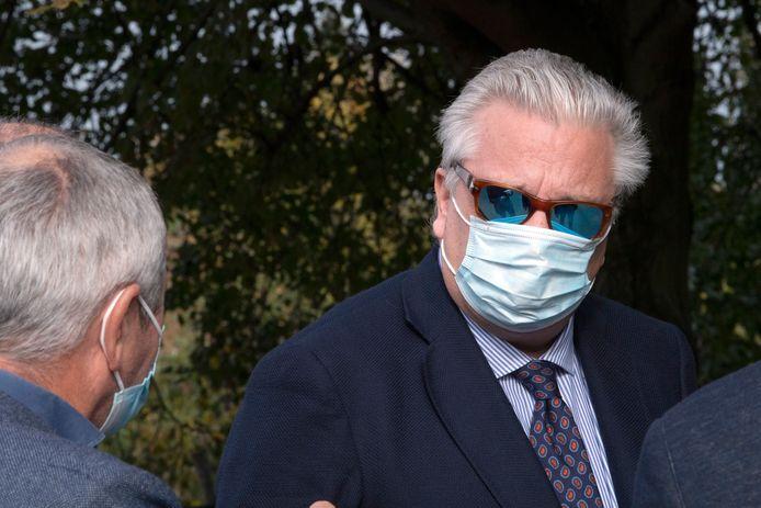 Le prince Laurent au Centre belge pour chiens-guides à Tongres ce jeudi 22 octobre.