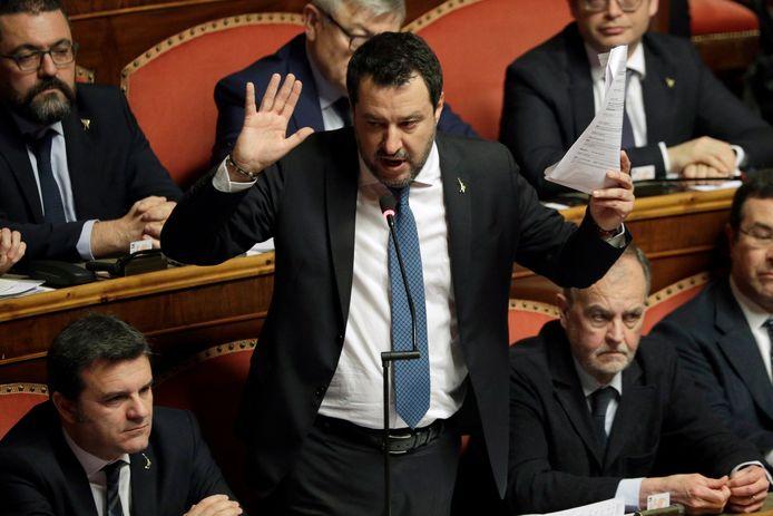 Matteo Salvini, le chef du parti italien d'extrême droite de la Ligue.