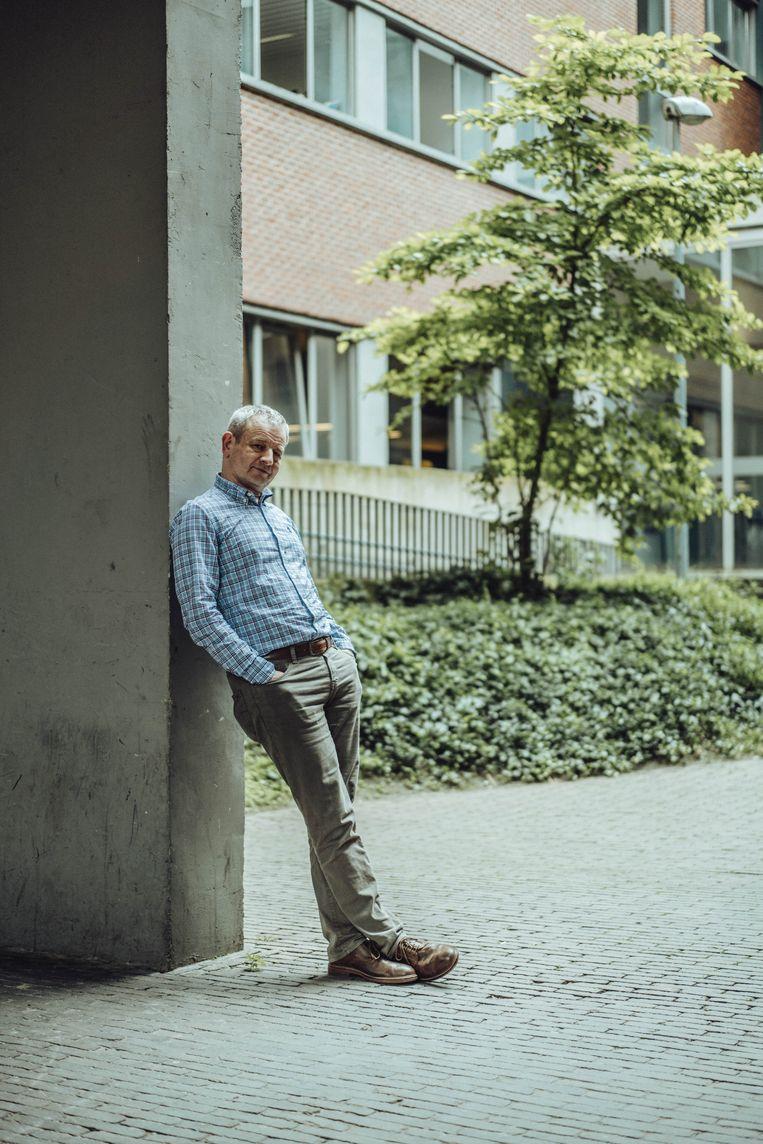 'De meeste politicologen zijn Belgisch gezind. Maar wordt Dave Sinardet ooit de vraag gesteld of dat wel oké is?' Beeld Thomas Sweertvaegher