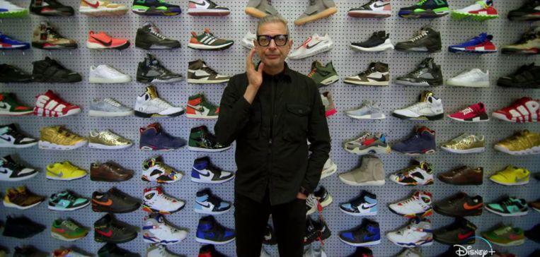 Waarom zijn sneakers zo duur? Jeff Goldblum zoekt het uit in 'The World According to Jeff Goldblum'. Beeld National Geographic