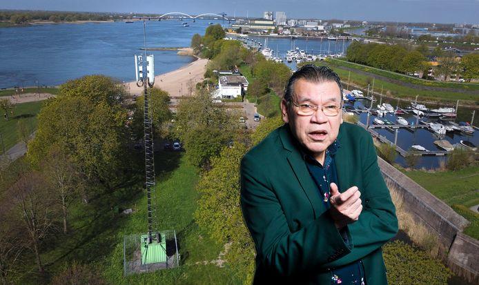 Roy Grünewald over de KPN-mast Buiten de Waterpoort in Gorinchem.