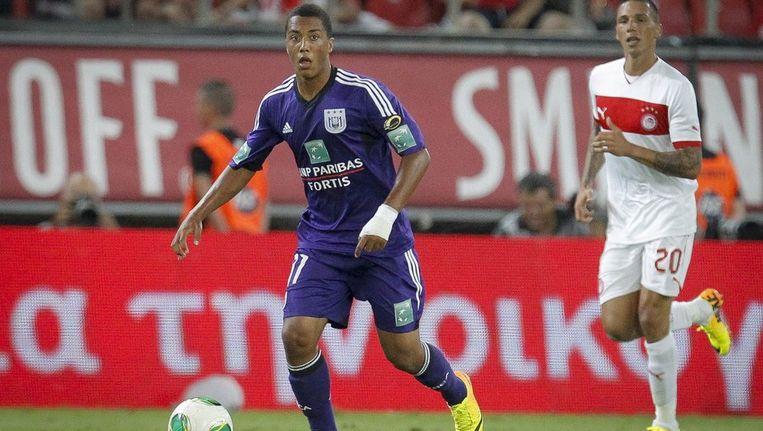 Youri Tielemans speelde gisteren met Anderlecht nog een oefeninterland tegen Olympiakos. Beeld PHOTO_NEWS