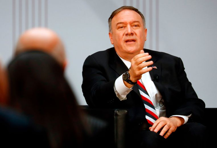 De Amerikaanse minister van Buitenlandse Zaken Mike Pompeo Beeld AFP