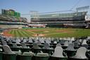 De tribunes in het stadion van Oakland A's waren afgelopen seizoen uitgestorven. Straks zal er mogelijk beperkt publiek zijn