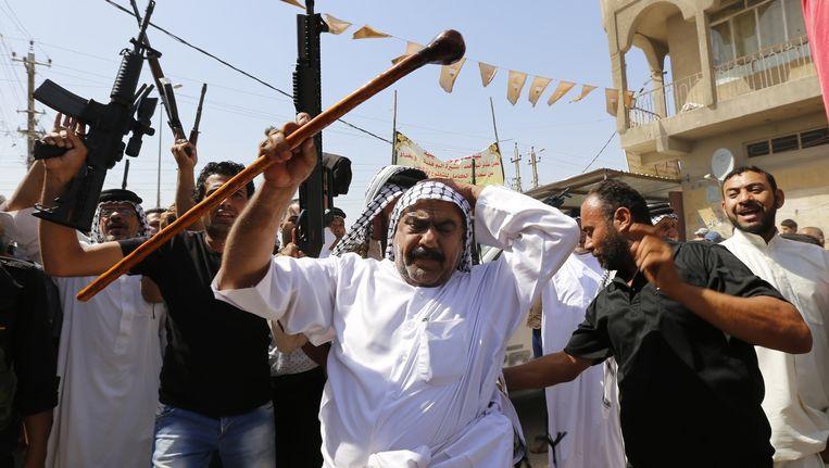 Sjiitsiche Irakezen steunen de oproep van de Iraakse regering Beeld reuters