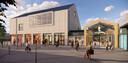 Het nieuwe pleingebouw van Tolbergcentrum in Roosendaal.