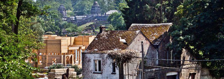 In het dorp Cambron-Casteau houdt niemand nog van panda's, vanwege de volkstoeloop en de overlast die dat meebrengt. Beeld Jonas Lampens