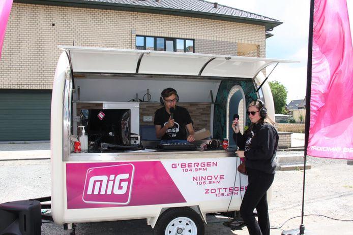 Radio MIG afgelopen zomer op locatie