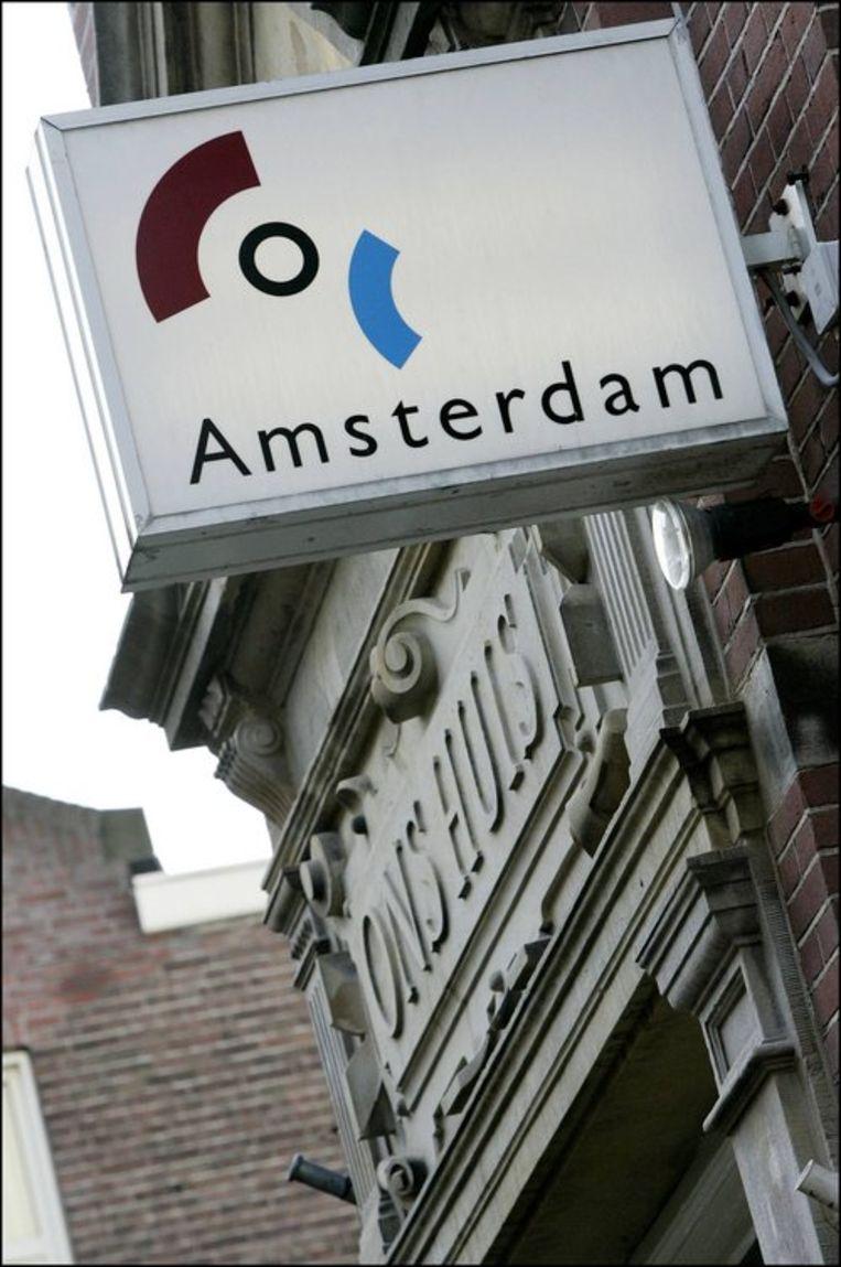 Gevel van het COC-gebouw in Amsterdam. Foto ANP/Lex van Lieshout Beeld