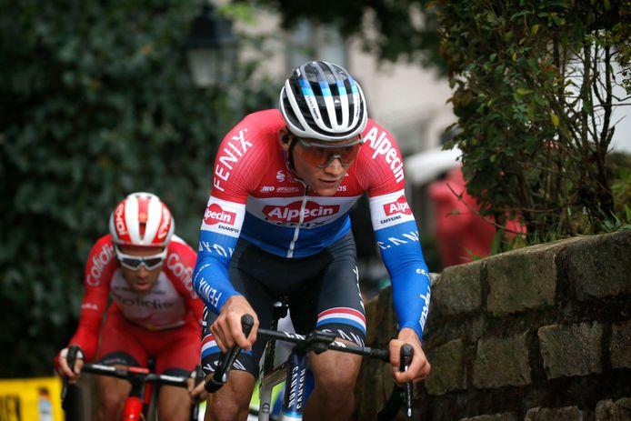Mathieu Van Der Poel tijdens de BinckBank Tour.
