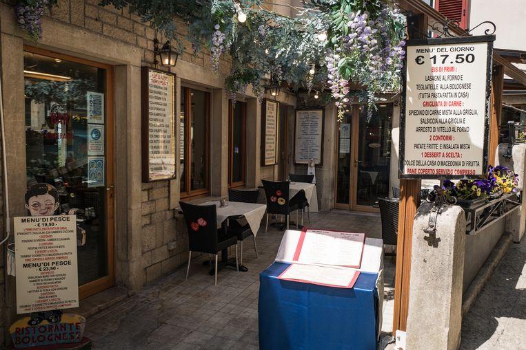 San Marino smacht naar toeristen, maar de Italiaanse bezoekers zijn voorlopig nog niet welkom.  Beeld Nicola Zolin
