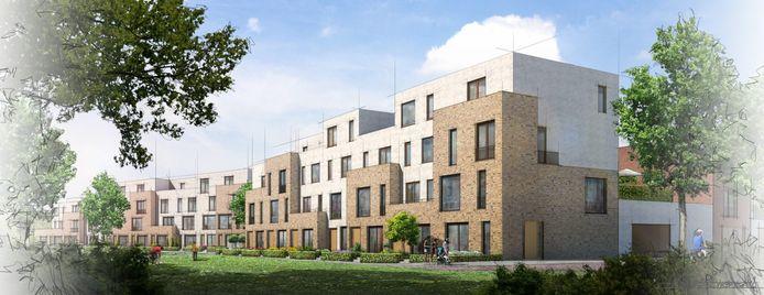 De duurste groep appartementen van het 'sluitstuk' in de nieuwbouwwijk Noorderhaven. Eengezinswoningen vanaf zo'n 490.000 euro tussen de jachthaven Noorderhaven den de Houthaven.
