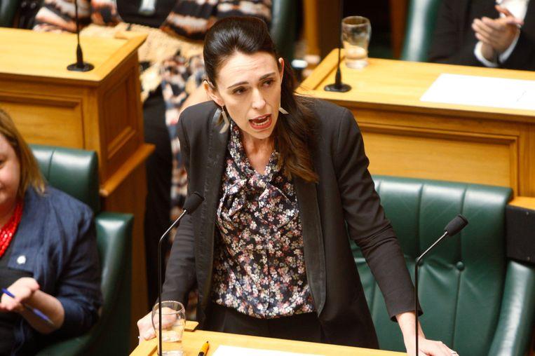 De Nieuw-Zeelandse premier Jacinda Ardern Beeld AP
