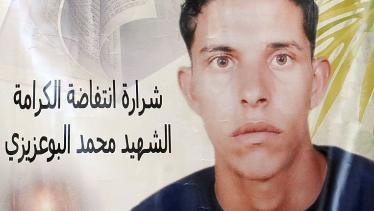 Mohamed Bouazizi. © AFP Beeld