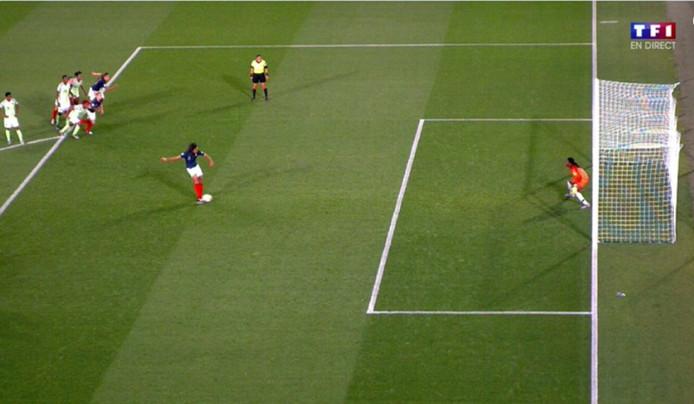 Le penalty polémique pour la France.